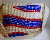 VTG Sirco Acrylic Beaded Shoulder Bag