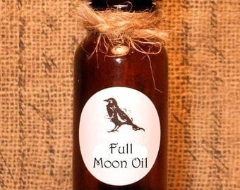 FULL MOON OIL  - Blessing Oil - Candle Anointing oil - Pagan - Wicca