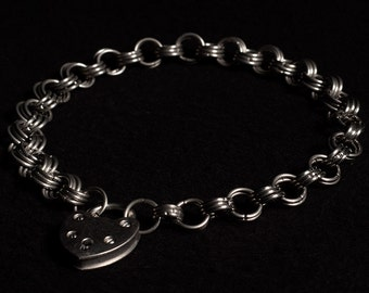 Stainless Steel Chainmail Collar/Necklace, Japanese 6:3 weave (10mm rings)