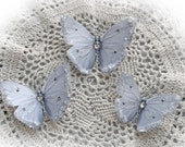 Reneabouquets Butterfly Set -  Snow White Butterflies Scrapbook Embellishment, Wedding, Home Decor, Party Decoration