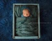 Newborn Hat, Classic Bonnet, Blue Hat, Photo Prop