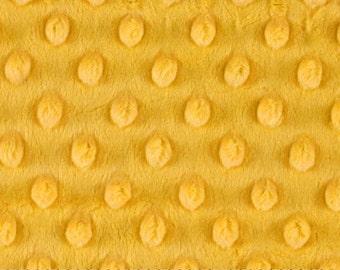 Mango Yellow Minky Dot Contour Changing Pad Cover
