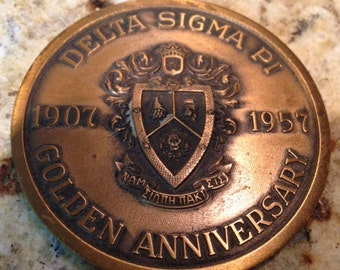 Delta Sigma Pi Golden Anniversary Medal ON SALE