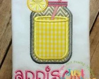 Mason Jar Machine Embroidery Applique Design Buy 2 for 4! Use Coupon Code 50OFF