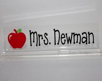 Personalized Teacher Desk Nameplate/ Office Desk Name Plate / Office Decor / Office Accessory Decor