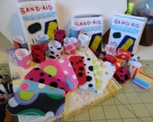 Custom Order for Katisha: Band Aids (hearts, stars, stripes and dots)