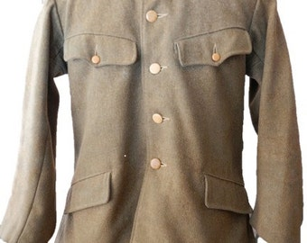 1940s Japanese WWII Military Coat With Surprise