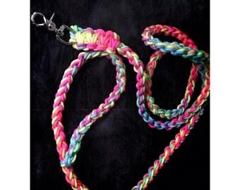 Rainbow Tie-Dye Paracord Leash