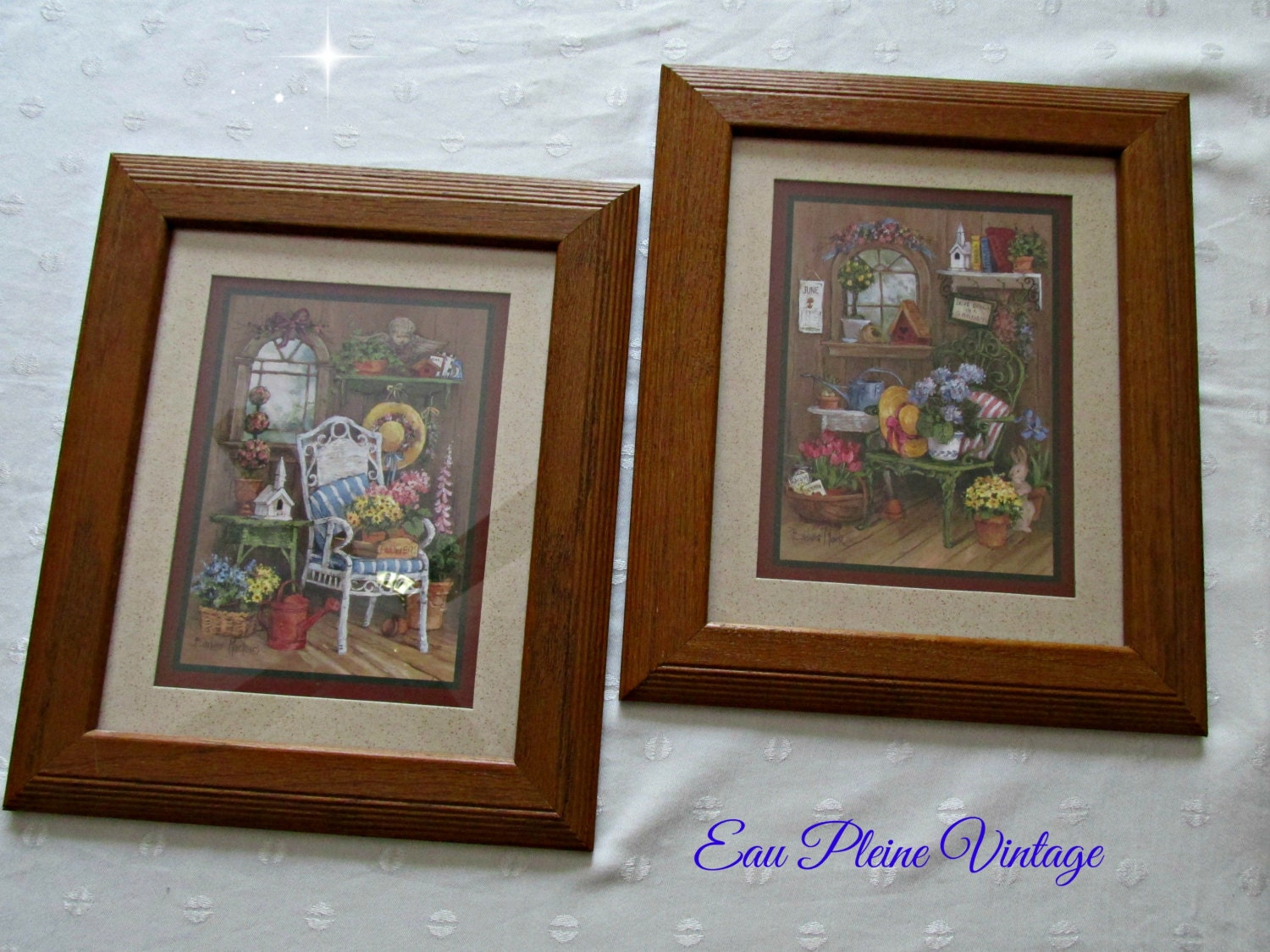 home interiors gifts vintage homco framed set by