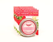 Strawberry Honeysuckle Lip Balm - All Natural - Summer Strawberries and Fresh Honeysuckle