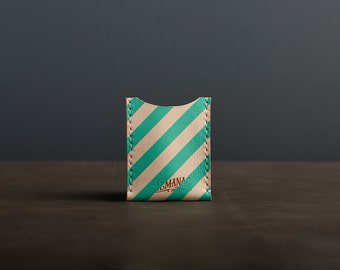 Leather Card Case / Wallet - Teal