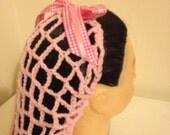 Pink crochet snood