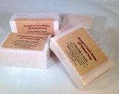 Big 6 oz Bar- COCOA BUTTER w/Goat Milk & Jojoba Soap(s)-Softens Skin-Noopys Natural Handcrafted