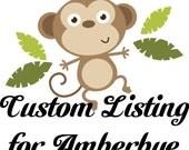 Custom listing for Amberbye