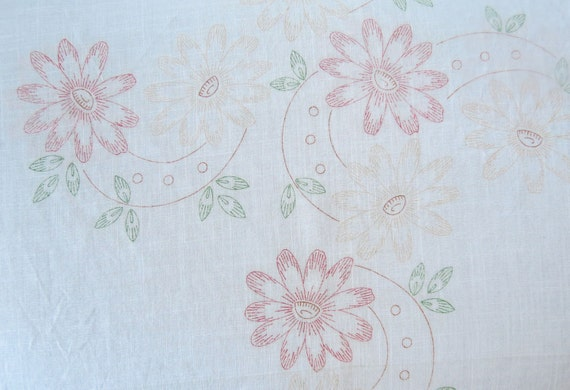 Tablecloth tri chem fabric painting embroidery