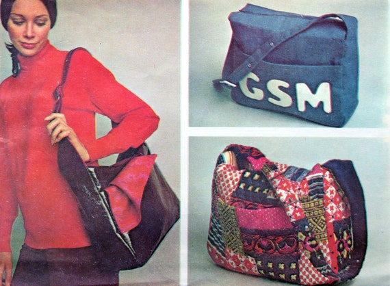 Purse Pattern Shoulder Bag Pattern McCall's 2378 Tote