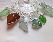 Handmade Seaglass Wine Glass Charms
