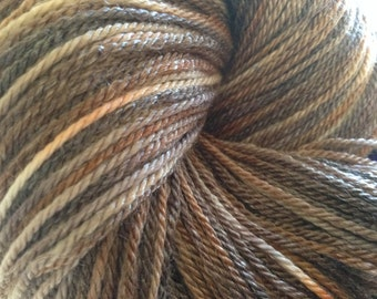 Clay - Crystal Fingering Weight - Hearthside Fibers Hand Dyed