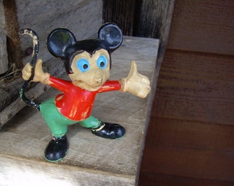 Antique Rubber Mickey Mouse Figure Doll