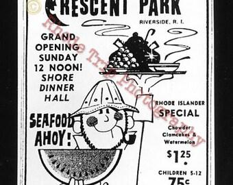 Rhode Island Crescent Park  gelatin silver print