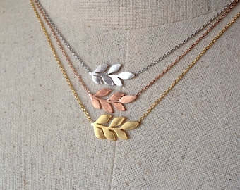 Leaf Necklace, Dainty Necklace
