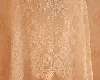 3 Yards Lace Fabric Alencon Lace Fabric Bridal Wedding Lace Fabric Eyelash French Lace Fabric