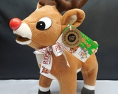"Vintage Stuffins Rudolph the Red Nosed Reindeer 50th Anniversary Island of Misfit Toys 14"" Large Plush MWT"