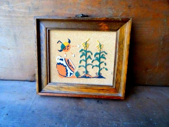 vintage sandpainting sand painting navajo home decor