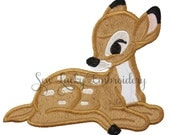 Baby Deer Patch - Deer Iron on Patch - Deer Sew On Patch - Fawn Patch - Doe Patch - Applique - Embroidered Patch - Iron on Patch - Sew on