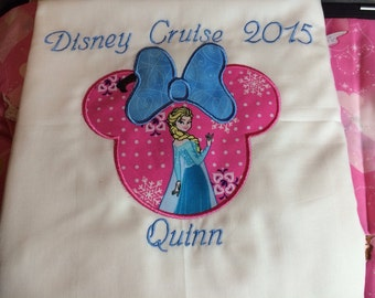 Custom made autograph pillowcases for your Disney Cruise