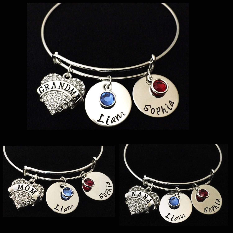 personalized charm bracelet bracelet grandchild