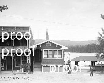 Morgans Store  & Post Office Mt. View NY, Adirondacks, 1903 digital photo