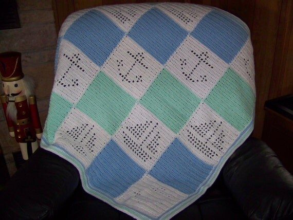 Hand Crocheted Baby Afghan Blanket by GZMinisNeedlecrafts ...