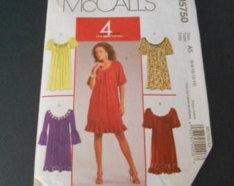 McCalls 5750, Misses Dresses, size 6 to 14