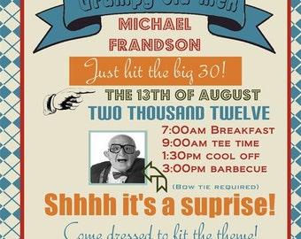 Grumpy old men birthday party invitation (you print)
