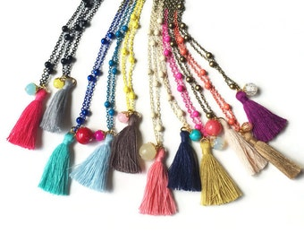 Tassel Necklaces - Little Girl Tassel Necklaces