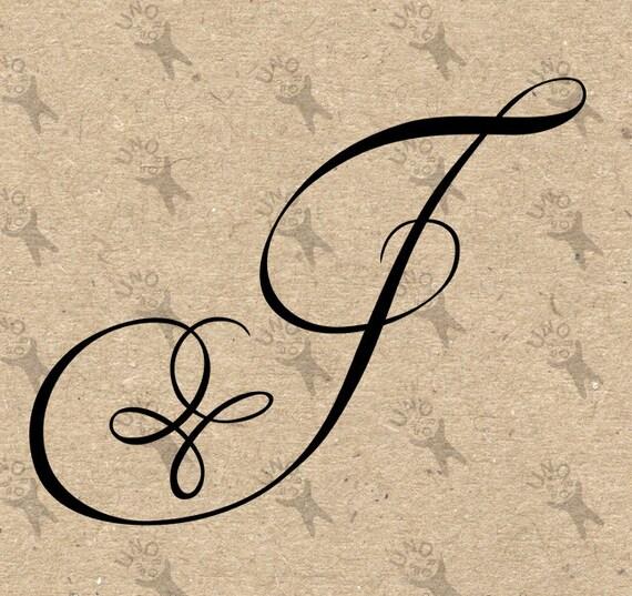 Monogram initial letter j instant download digital printable