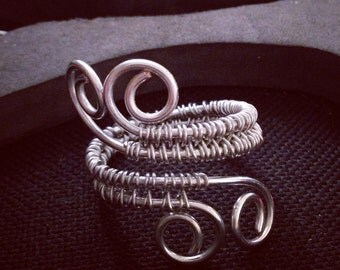 Scrolls of Prophecy Wire Wrap Ring - Percy Jackson Oracle Inspired Ring - Copper or Silver