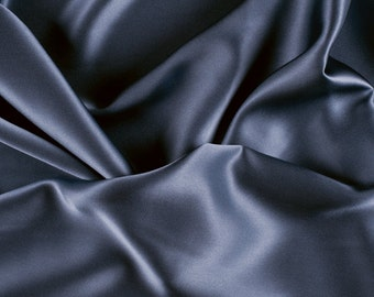 "45"" Wide 100% Silk Charmeuse Copenhagen Blue By the Yard"