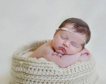 Newborn photo prop basket