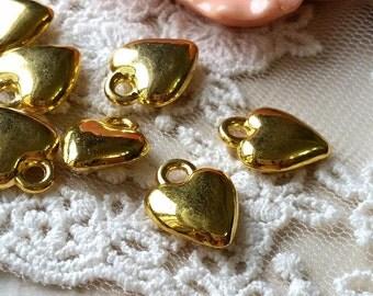 14 x 11 mm Golden Plated Heart Shape Charm Pendant (.ti)