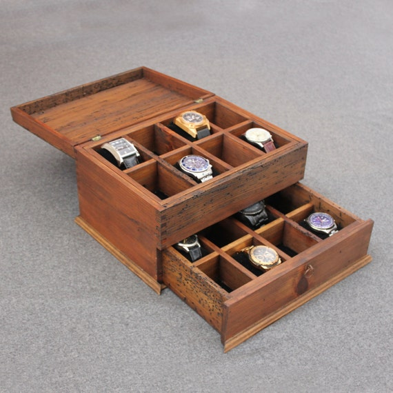 Wood watch box watch box watch case men 39 s watch box for Meuble 8 cases