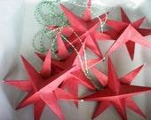 Paper Star Christmas Ornaments - Mini-Stars Paper Decor