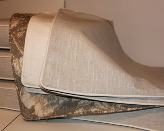 Custom Boxed Cushions and Pillows Covers - Using Wexford Linen- Price is Approximation Only
