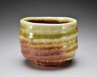 Shigaraki, anagama, ten-day anagama wood firing, with natural ash deposits sake cup. gui-04