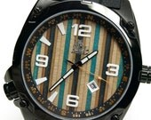 Wood Watch - Skate Watch, Made in Canada,  Recycled Skateboard Watch - Second Shot Skate Watch