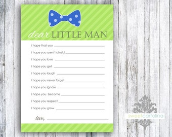 Baby Well Wishes - Printed Baby Shower Games - Bow Tie