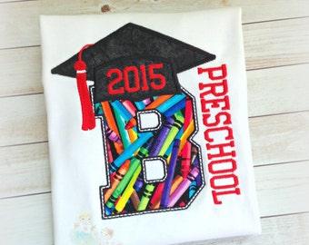 Preschool graduation shirt - pre-k graduation shirt - kids graduation shirt - preschool grad shirt - personalized graduation shirt for boys