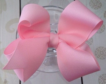 Girls bow, birthday bow, girls hair clip, light pink bow, pink bow, stocking stuffer, wedding, school bow