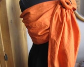 Linen Blend Ring Sling, Baby Carrier, Orange,Ships for Free Us & Canada,